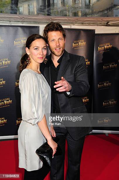 Actors Kerry Norton and Jamie Bamber attend the Jules Verne 2009 Adventure Film FestivalDay 1 at the Grand Rex Cinema on April 24 2009 in Paris France