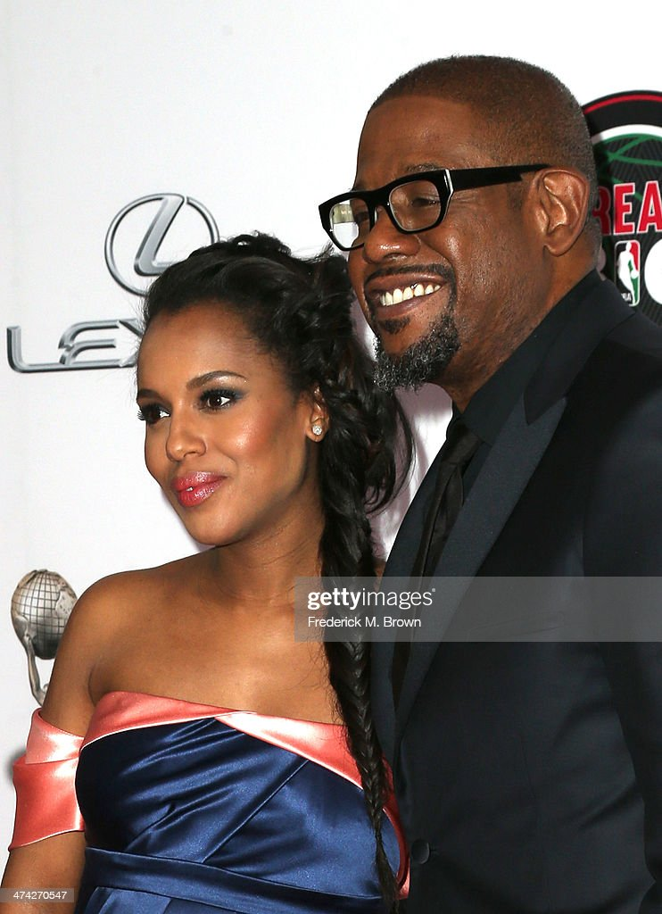 Actors Kerry Washington (L) and Forest Whitaker attend the 45th NAACP Image Awards presented by TV One at Pasadena Civic Auditorium on February 22, 2014 in Pasadena, California.