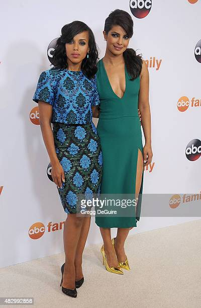 Actors Kerry Washington and Priyanka Chopra arrive at the Disney ABC Television Group's 2015 TCA Summer Press Tour on August 4 2015 in Beverly Hills...