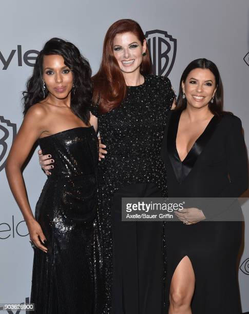 Actors Kerry Washington Debra Messing and Eva Longoria attend the 19th Annual PostGolden Globes Party hosted by Warner Bros Pictures and InStyle at...