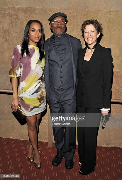 Actors Kerry Washington Samuel L Jackson and Annette Bening arrive at the Mother And Child Los Angeles Premiere held at the Egyptian Theatre on April...