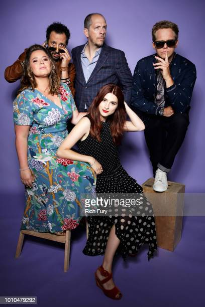 Actors Kether Donohue Desmin Borges creator Stephen Falk and actors Aya Cash and Chris Geere of FX's 'You're the Worst' pose for a portrait during...