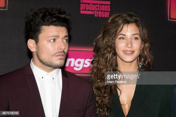 Actors Kev Adams and Manon Azem attend the 'Gangsterdam' Premiere at Le Grand Rex on March 23 2017 in Paris France