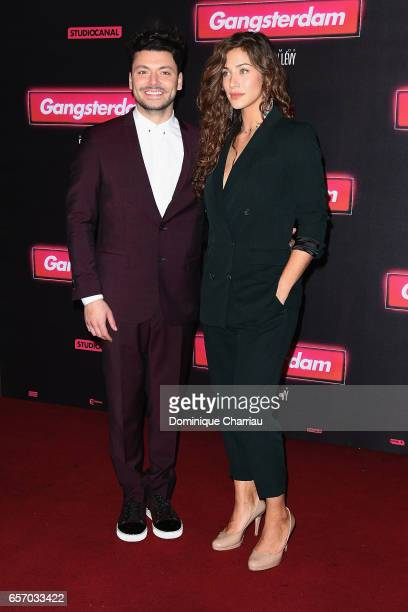Actors Kev Adams and Manon Azem attends the 'Gangsterdam' Paris Premiere at Le Grand Rex on March 23 2017 in Paris France