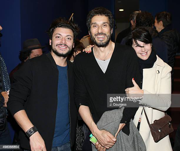 Actors Kev Adams Vincent Elbaz and Zabou Breitman attend the 2015 In French With English Subtitles NY Film Festival Closing Night Award Ceremony at...