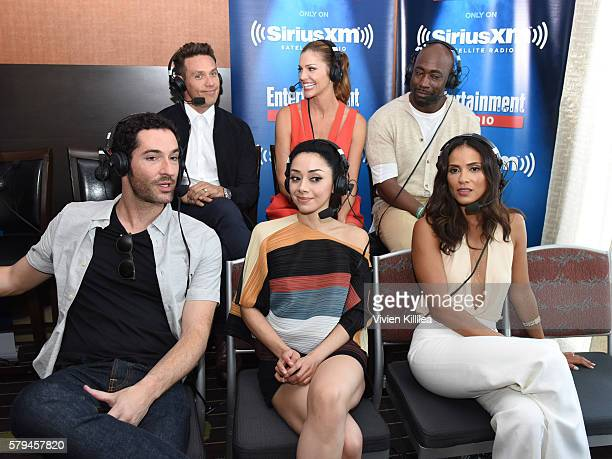 Actors Kevin Alejandro Dawn Olivieri DB Woodside Tom Ellis Christina Chang and LesleyAnn Brandt attend SiriusXM's Entertainment Weekly Radio Channel...