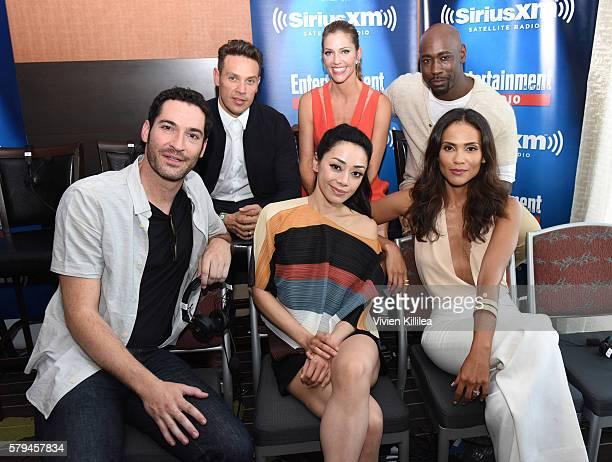 Actors Kevin Alejandro Dawn Olivieri DB Woodside Tom Ellis Christina Chang and LesleyAnn Brandt attend SiriusXM's Entertainment Weekly Radio Channel...