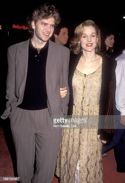 Actors Kevin Anderson and Penelope Ann Miller attend the 'Sleeping with the Enemy' Westwood Premiere on February 4, 1991 at Mann Village Theatre in...