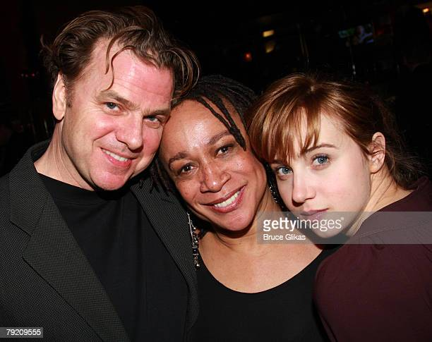 "Actors Kevin Anderson, S. Epatha Merkerson and Zoe Kazan pose at The Opening Night Party for the Revival of ""Come Back, Little Sheba"" at Planet..."