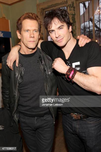 Actors Kevin Bacon and Ian Somerhalder attend Funny Or Die Clubhouse Facebook PopUp HQ @ SXSW Day 1 on March 8 2014 in Austin Texas