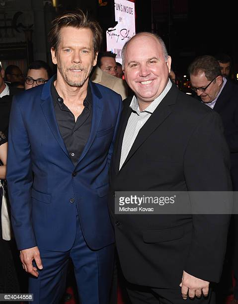 Actors Kevin Bacon and James DuMont attend the premiere of 'Patriots Day' at AFI Fest 2016 presented by Audi at The Chinese Theatre on November 17...