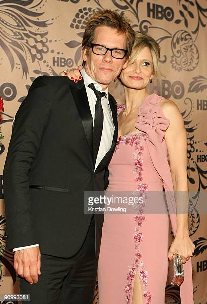 Actors Kevin Bacon and Kyra Sedgwick attend HBO's post Emmy Awards reception at the Pacific Design Center on September 20 2009 in West Hollywood...