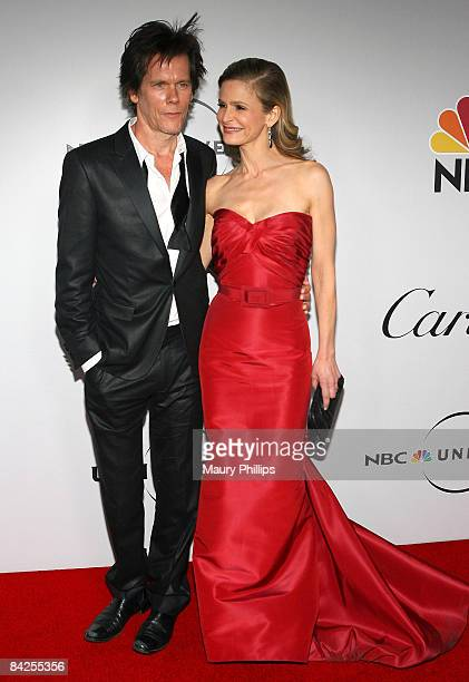Actors Kevin Bacon and Kyra Sedgwick attend the Universal and Focus Features After Party for the 66th Annual Golden Globe Awards held at the Beverly...
