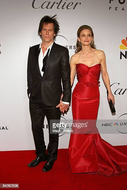 Actors Kevin Bacon and Kyra Sedgwick attends the Universal and Focus Features After Party for the 66th Annual Golden Globe Awards held at the Beverly...