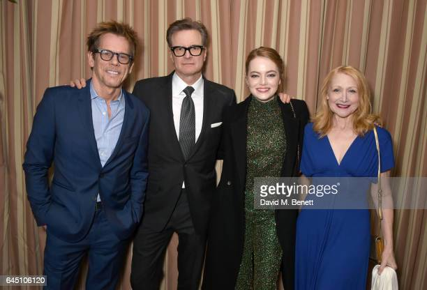 Actors Kevin Bacon Colin Firth Emma Stone and Patricia Clarkson attend a dinner to celebrate The GCC and The Journey To Sustainable Luxury on...