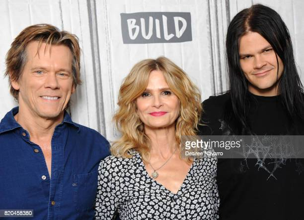 Actors Kevin Bacon Kyra Sedgwick and Travis Bacon attend Build previewing the new Lifetime film 'Story of a Girl' at Build Studio on July 21 2017 in...