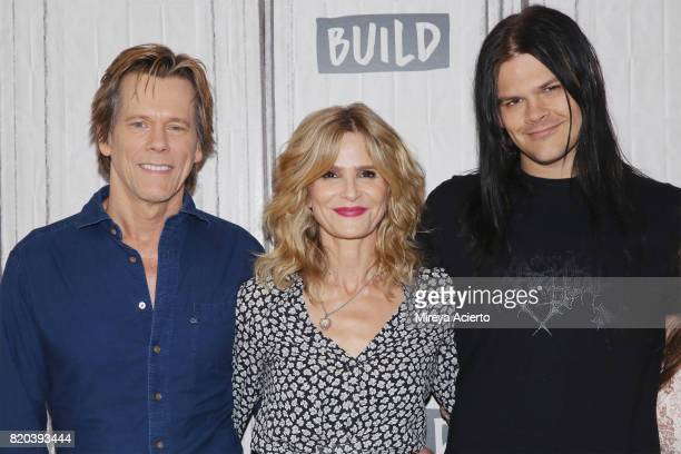 Actors Kevin Bacon Kyra Sedgwick and Travis Bacon visit Build to discuss the new Lifetime film Story of a Girl at Build Studio on July 21 2017 in New...