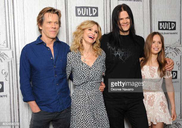 Actors Kevin Bacon Kyra Sedgwick Travis Bacon and Ryann Shane attend Build previewing the new Lifetime film 'Story of a Girl' at Build Studio on July...