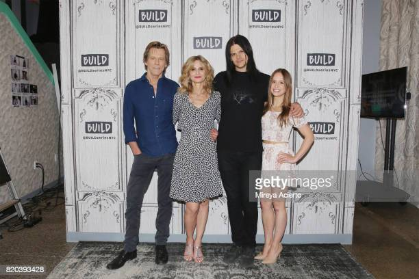 Actors Kevin Bacon Kyra Sedgwick Travis Bacon and Ryann Shane visit Build to discuss the new Lifetime film Story of a Girl at Build Studio on July 21...