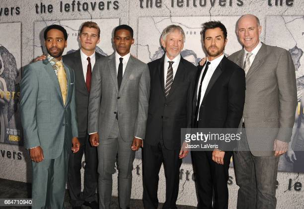 Actors Kevin Carroll Chris Zylka Jovan Adepo Scott Glenn Justin Theroux and Michael Gaston attend the season 3 premiere of The Leftovers at Avalon...