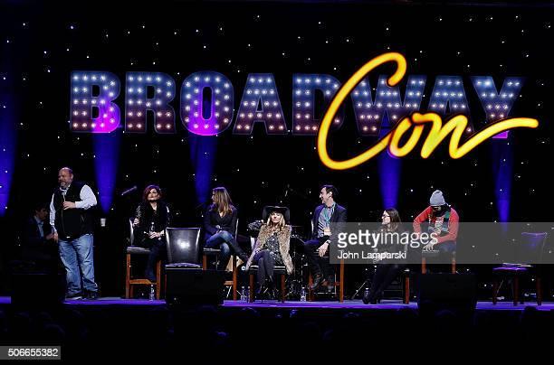Actors Kevin ChamberlainFaith Prince Rachel York Kerry Butler Jennifer SimardJack Plotnick and Max Crumb attend BroadwayCon 2016 on January 24 2016...