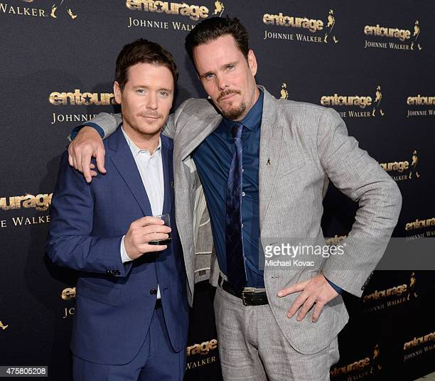 Actors Kevin Connolly and Kevin Dillon attend the House Of Walker in celebration of Entourage opening night at Siren Studios on June 3 2015 in...