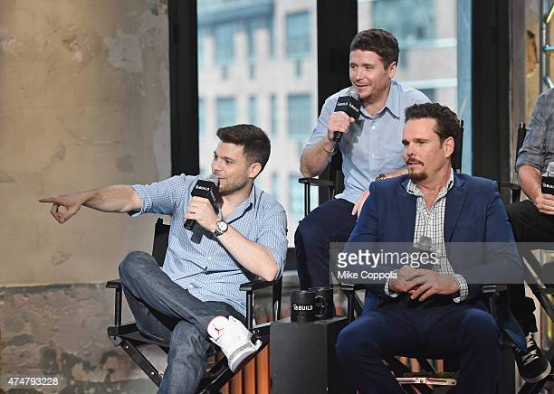 Actors Kevin Connolly Jerry Ferrara and Kevin Dillon attend AOL BUILD Speaker Series The Cast Of Film Entourage at AOL Studios In New York on May 26...