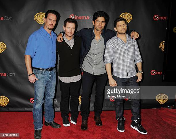 Actors Kevin Dillon Adrian Grenier Kevin Connolly and Jerry Ferrara arrive at Warner Bros Pictures The Big Picture at The Colosseum at Caesars Palace...