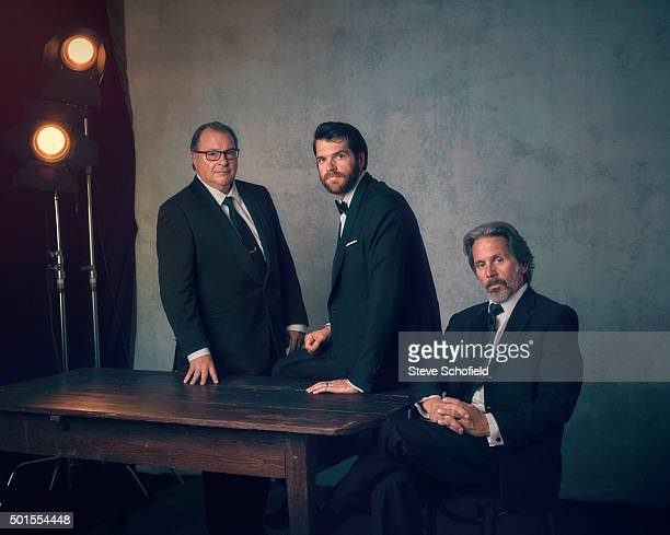Actors Kevin Dunn Timothy CSimons and Gary Cole who all star in tv series Veep are photographed for Emmy magazine on September 20 2015 in Los Angeles...