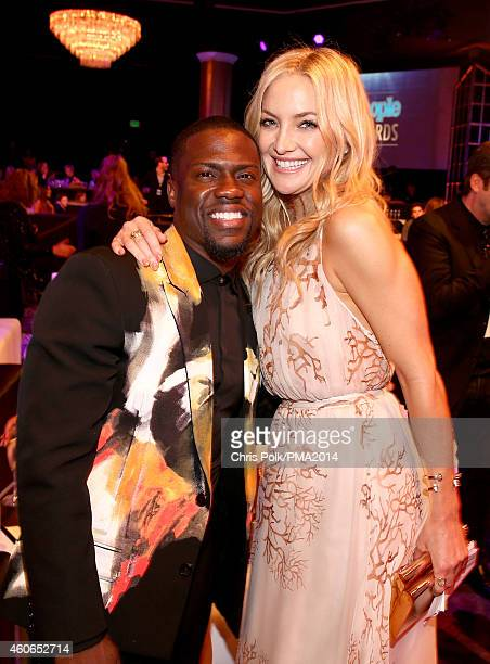 Actors Kevin Hart and Kate Hudson attend the PEOPLE Magazine Awards at The Beverly Hilton Hotel on December 18 2014 in Beverly Hills California