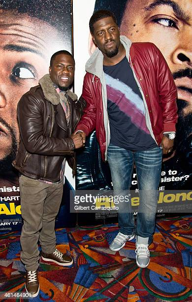 Actors Kevin Hart and Will 'SPANK' Horton attend the Ride Along screening at The Pearl Theater on January 8 2014 in Philadelphia Pennsylvania