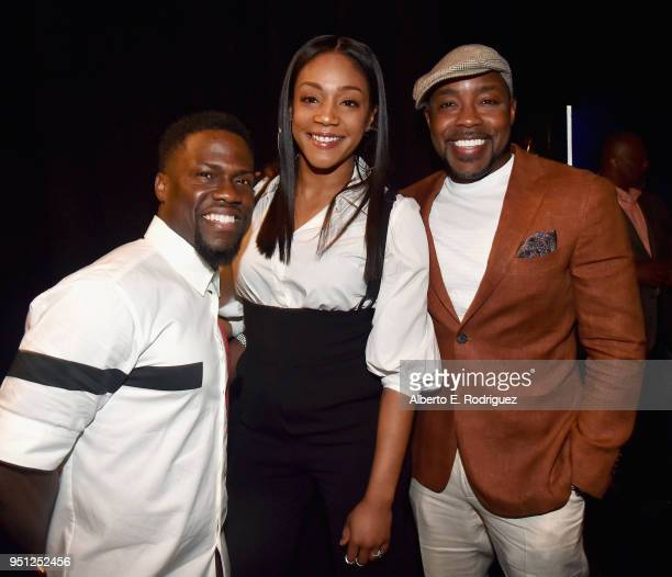 Actors Kevin Hart Tiffany Haddish and producer Will Packer attend CinemaCon 2018 Universal Pictures Invites You to a Special Presentation Featuring...