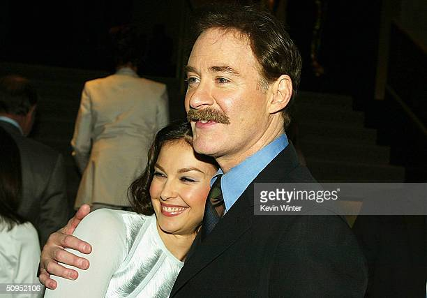 Actors Kevin Kline and Ashley Judd attend the premiere of the MGM film DeLovely at the Academy of Motion Pictures Arts and Sciences June 11 2004 in...