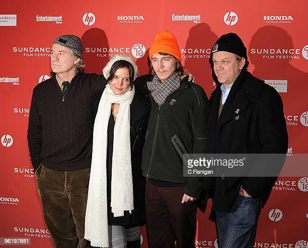 Actors Kevin Kline, Katie Holmes, Pail Dano and John C. Reilly attend the 'The Extra Man' premiere during the 2010 Sundance at Eccles Center Theatre...