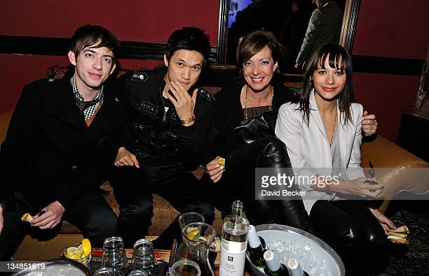 Actors Kevin McHale, Harry Shum Jr, Allison Janney and Rashida Jones attend Vegas Magazine's after party for Michael Jackson THE IMMORTAL by Cirque...