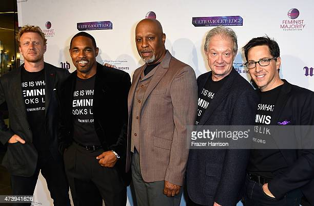 Actors Kevin McKidd James Pickens Jr Jason George Jeff Perry Dan Bucatinsky arrive at The Feminist Majority Foundation's 10th Annual Global Women's...