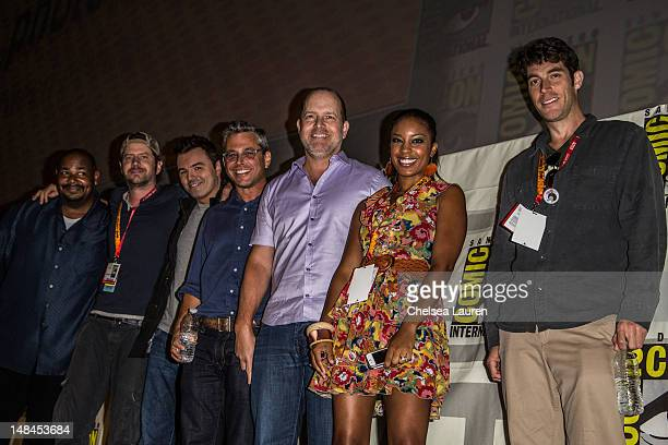 Actors Kevin Michael Richardson Jamie Kennedy Seth MacFarlane creator Richard Appel creator Mike Henry Reagan GomezPreston and John Viener attend the...