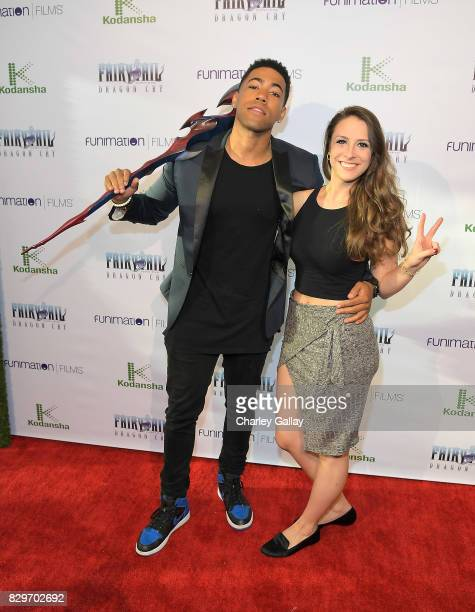 Actors Kevin Mimms and Emily Gaither attend the Fairy Tail Dragon Cry Premiere at The Montalban on August 10 2017 in Hollywood California