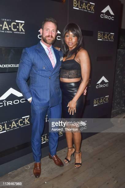 Actors Kevin Pozzo and Amanda Warren attend The BLACK Ball at Petite Taqueria on February 20 2019 in Los Angeles California