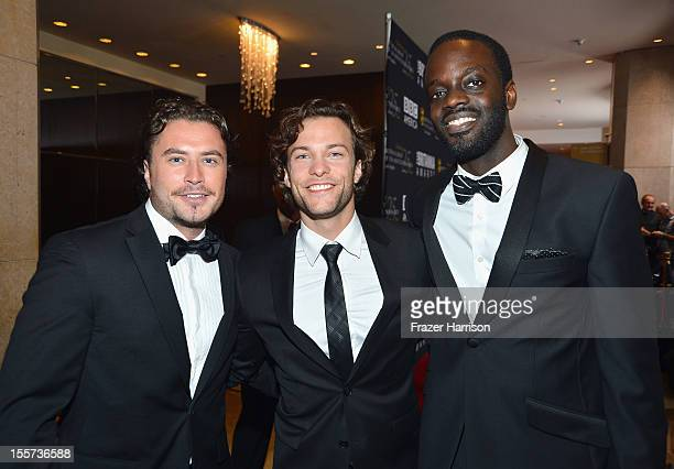 Actors Kevin Ryan Kyle Schmid and Ato Essandoh arrive at the 2012 BAFTA Los Angeles Britannia Awards Presented By BBC AMERICA at The Beverly Hilton...