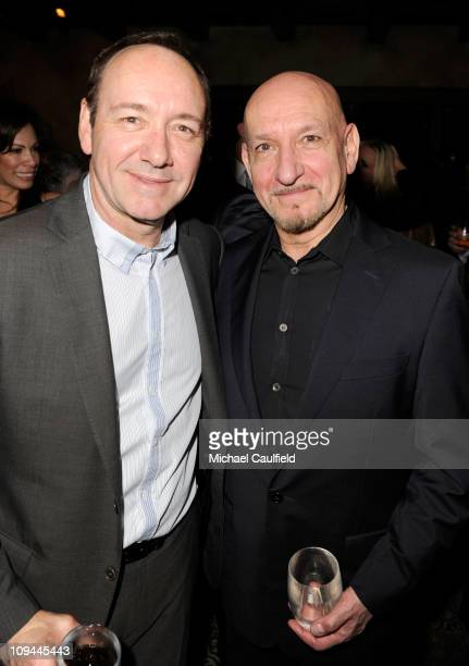Actors Kevin Spacey and Ben Kingsley attend Natasha Thomas and Jack Durling host an evening in aid of the Kevin Spacey Foundation held at Petit...