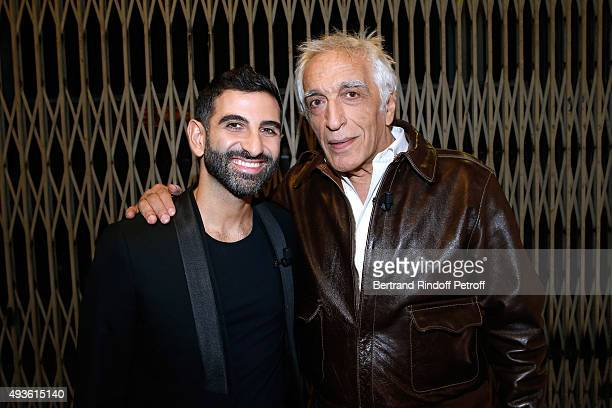 Actors Kheiron Tabib and Gerard Darmon present the Movie 'Nous trois ou rien' during the 'Vivement Dimanche' French TV Show at Pavillon Gabriel on...