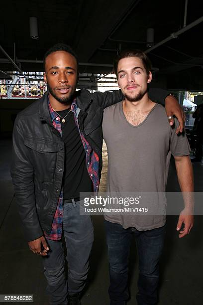 Actors Khylin Rhambo and Dylan Sprayberry attend the MTV Fandom Awards San Diego at PETCO Park on July 21 2016 in San Diego California