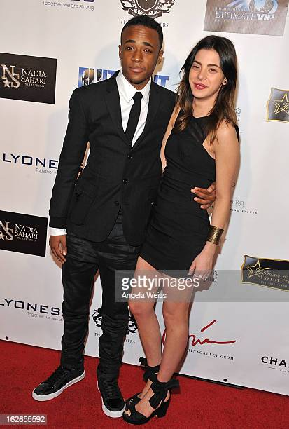 Actors Khylin Rhambo and Gia Mantegna attend the Hellman Walter's 'Salute To The Stars' Oscar after party at Andaz on February 24 2013 in West...
