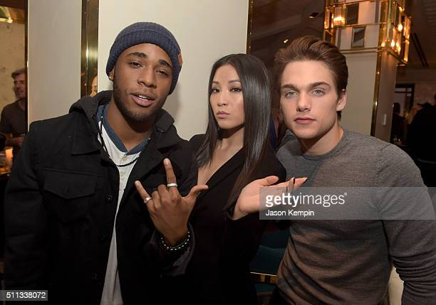 Actors Khylin Rhambo, Arden Cho, and Dylan Sprayberry attend the MTV Press Junket & Cocktail Party at The London West Hollywood on February 18, 2016...