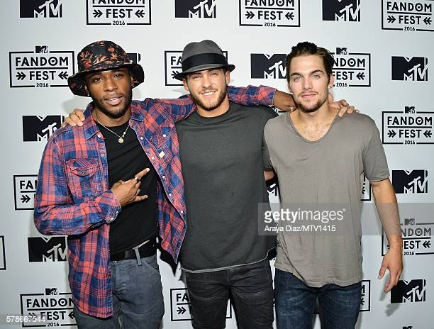 Actors Khylin Rhambo Cody Christian and Dylan Sprayber attend the MTV Fandom Awards San Diego at PETCO Park on July 21 2016 in San Diego California