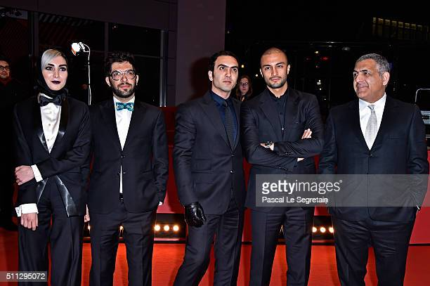 Actors Kiana Tajammol Ehsan Goudarzi Homayoun Ghanizadeh Amir Jadidi and director Mani Haghighi attends the 'A Dragon Arrives' premiere during the...