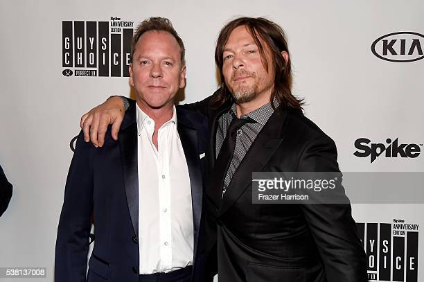 Actors Kiefer Sutherland and Norman Reedus attend Spike TV's 10th Annual Guys Choice Awards at Sony Pictures Studios on June 4, 2016 in Culver City,...