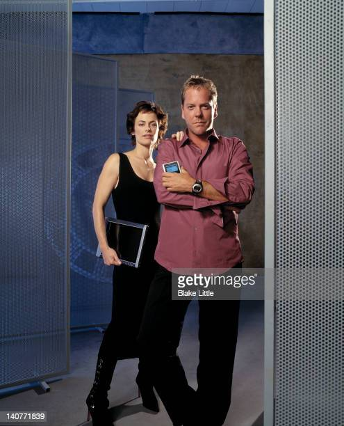 Actors Kiefer Sutherland and Sarah Clarke are photographed for a 2007 Parade Magazine in Los Angeles California