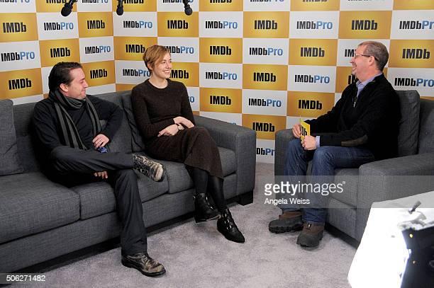 Actors Kieran Culkin and Greta Gerwig are interviewed by IMDb's Keith Simanton in The IMDb Studio In Park City Utah Day One Park City on January 22...
